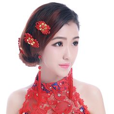 chinese  wedding hairs | chinese wedding hair accessories Promotion #wedding #weddingstyle #hairstyle