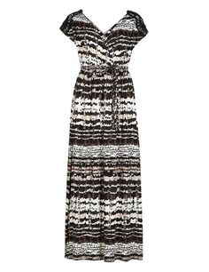 NEW Marks and Spencer Petite Shoulder Lace Maxi Midi Dress Black White Orange in Clothes, Shoes & Accessories | eBay