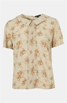 Topshop Floral Pintuck Shirt Floral Print Shirt 42e8e6e83