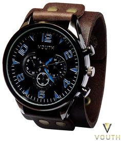 Relógio Bracelete Marrom  Visite nossa FanPage : https://www.facebook.com/Passarella-Brasil-212170078859412/?fref=ts Visite nosso site: www.passarellabrasil.com.br   #passarellabrasil  #relógiovouth  #vouth
