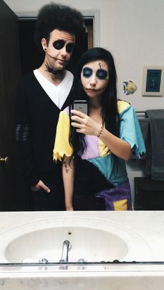 The Nightmare Before Christmas Jack and Sally Diy Halloween Costume #halloween #diy #jack #sally