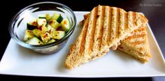 Tuna Melt with Cucumber Salad