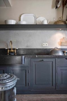 Love the countertop/cabinet color combo.