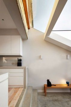 Polished concrete floor - Alma-nac creates huge pivoting door for London house extension | Dezeen » Architecture | Bloglovin'