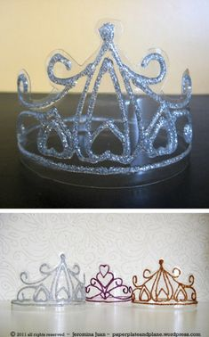 como hacer una corona con botellas pet