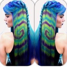 We've gathered our favorite ideas for Hair Color Trends Tye Dye Hair Color Trend Teen Vogue, Explore our list of popular images of Hair Color Trends Tye Dye Hair Color Trend Teen Vogue in tie dye hair color. Dyed Hair Pastel, Dyed Blonde Hair, Hot Hair Colors, Color Your Hair, Spring Hairstyles, Funky Hairstyles, Tie Dye Tips, Tie Dye Hair, Galaxy Hair