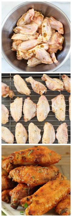 Incredibly delicious Baked Chicken Wings made with sour cream seasoning.