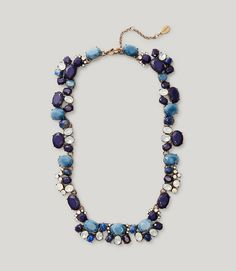 Primary Image of Blue Mixed Stone Necklace