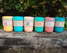 decorated mason jars, Painted mason jars, spring décor, mason jars painted, shabby chic décor, by QUEENBEADER