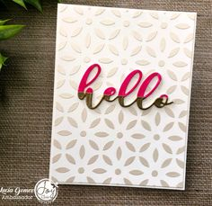 Hello Sunday! Definitely We are very lucky and very blessed!  Just a clean and simple card created by Martha Lucia @stampartpapel with dies and stencils available at Joy Clair Designs Store @joyclairstamps Have a great week! • • #clearstamps #joyclairstamps #joyclairdesigns #crafts #scrap #papercrafts #papercrafting #papercrafter #handmade #handmadecard #handmadecards #card #cards #cardmaking #cardmakingideas #cardmakinghobby #greetingcard #greetingcards #cardideas #cardmaker #makingcards… Hello Sunday, Card Maker, Clear Stamps, Cardmaking, Stencils, Blessed, Scrap, Greeting Cards, Paper Crafts