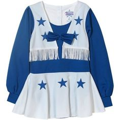Dallas Cowboys Toddler Cheer Uniform - Navy Blue White  Fanatics Toddler  Cheer Uniforms 9255a4a59