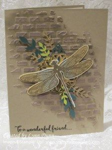 Dragonfly Dreams and embossing paste