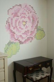 cross-stitch painting