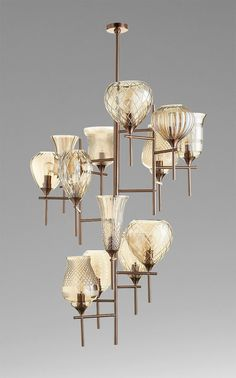 Darcey 13 Light Chandelier design by Cyan Design