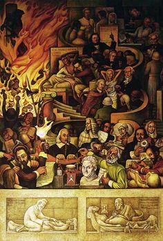 Mural de Diego Rivera en el Instituto Nacional de Cardiología - CAD Mexico