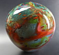 This Tahiti Globe by Peter Layton would be a beautiful Christmas tree ornament.