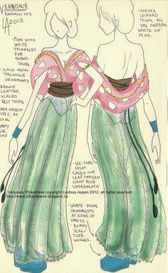 Original Pokemon starter dresses