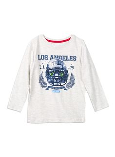 Pumpkin Patch - tees - long sleeve tee with print - W5BY12002 - vanilla marle - 5 to 14