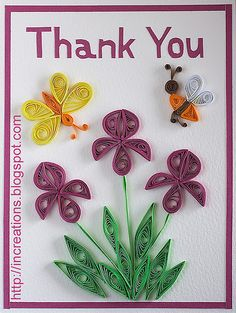 Thank you. Quilling by Inna's Creations, via Flickr