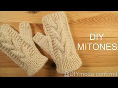 Twisted woven mittens with two needles step by step - tricot & crochet Crochet Baby Sweaters, Knit Mittens, Knitting Socks, Crochet Gloves, Crochet Beanie, Knitted Shawls, Hand Embroidery Videos, Bead Crochet, Hand Warmers