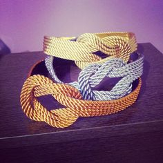Cinturones de cordón de seda, nudo marinero. @tocadoschando