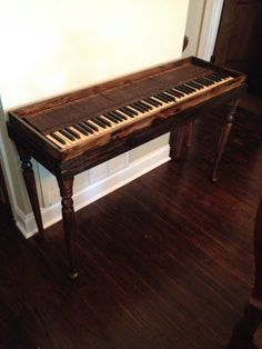 High Quality Piano Key Entry Way Table (still Waiting On The Glass Top)