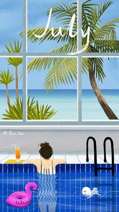 Super Home Art Anime 18 Ideas Cute Wallpapers, Wallpaper Backgrounds, Iphone Wallpaper, Couple Wallpaper, Girl Wallpaper, Calendar Wallpaper, Months In A Year, 12 Months, Arte Pop