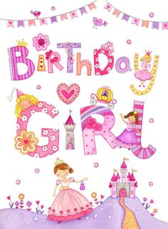 Clare Caddy - Birthday Girl Princesses Art