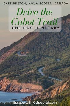 Is it possible to do the 185 mile Cabot Trail on Cape Breton, Nova Scotia, Canada in a day covering everything it has to offer? With this one day Cabot Trail itinerary you can! East Coast Travel, East Coast Road Trip, Alberta Canada, Quebec, East Coast Canada, Nova Scotia Travel, Canada Vancouver, Toronto, Canada Destinations
