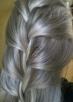 Silver Hair for Braiding | ... Light Grey Silver Hair Chalks for your highly vibrant hair coloring