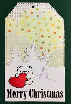 Tag christmas critters bear Winter MFT Bitty bears Die-namics, tre trees fir pine tree  - til og fra kort til gaver jul julegaver - StjerneSus