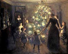 Viggo Johansen (Danish artist, 1851–1935) Silent Night