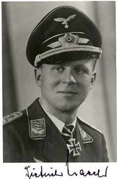 Dietrich Hrabak, Luftwaffe Ace with 125 victories.
