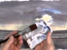 Painting Skies in Watercolour - Evening Sky (Part Watercolor Scenery, Watercolor Clouds, Watercolor Video, Watercolor Painting Techniques, Watercolor Projects, Watercolour Tutorials, Painting Videos, Painting Lessons, Watercolor Landscape