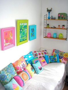 #Summer #Colours  #Spring/Summer #interiors #brightcolors #limegreen #brightblue #brightpink