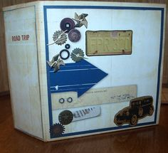 Travel Mini Album  Handmade Scrapbook by PacificJunction on Etsy, $25.00