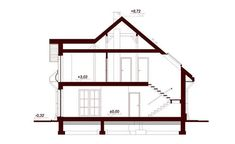DOM.PL™ - Projekt domu DN Xara CE - DOM PC1-21 - gotowy koszt budowy Family House Plans, Dream House Plans, Beautiful Home Designs, Beautiful Homes, Beautiful Places, Home Building Design, Building A House, Two Story House Design, Kerala House Design