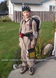 Coolest Homemade Ghost Buster Costume