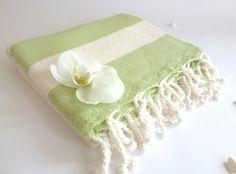 Organic Bamboo Turkish Towel Bath Natural by TheAnatolian on Etsy, $32.50