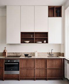 Nordic Kitchen, Loft Kitchen, Scandinavian Kitchen, Kitchen Retro, Kitchen Ideas, Building A Kitchen, Timeless Kitchen, Minimalist Kitchen, Küchen Design