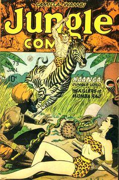 COMIC jungle comics 73 #comic #cover #art
