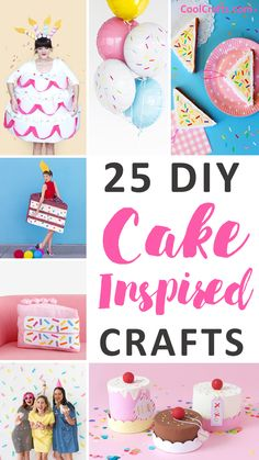 Cakes are definitely fun to bake, but what about doing cake crafts. We compiled a list of 25 cake craft ideas that you can explore. Cake Craft, Diy Cake, Pool Party Crafts, Little Mermaid Crafts, Decor Crafts, Fun Crafts, Craft Activities For Kids, Craft Ideas, Diy Ideas