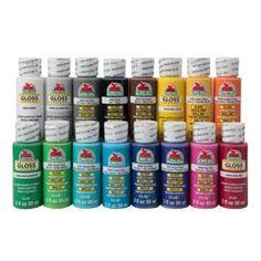 Apple Barrel ® Gloss™ 16 Color Set