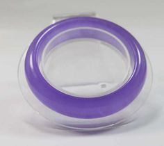 Women Natural Lavender Jadeite Jade Gems Bracelet Bangle Size 65mm with Gift Box Packing: Jewelry