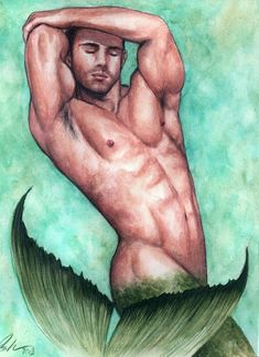 merman | Merman Painting by Bruce Lennon - Merman Fine Art Prints and Posters ...
