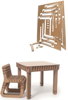 'Build Up' child's chair and table designed by Philippe Nigro