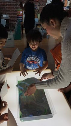 Using our light table and science experiment. We used water color paper to make prints. Reggio Classroom, Helen Frankenthaler, Science Experiments, Light Table, Paper, Prints, Pictures, Color, Photos