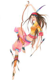 A spunky and vibrant archer