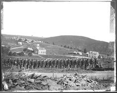 Original Caption: Maryland Heights at Harpers Ferry. (Capt. Otis, Company 22nd N.Y. Infantry.). Taken circa 1863  Harpers Ferry, West Virginia, US