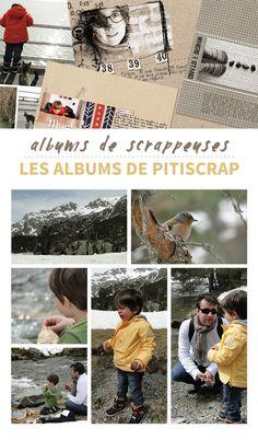 albums de scrappeuses: les albums de Pitiscrap
